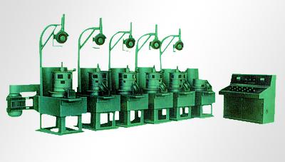 滑轮式拉丝机结构:本设备由主体减速箱,模盒,道轮架,起线架及电器